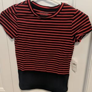 Cotton/spandex fitted t-shirt